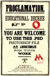 HP Educational Decree Template by kyliesmiley16