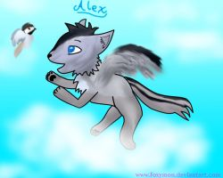 Alex the wolf by Foxymon