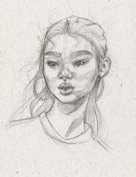 Portrait Sketch2 by TheNecco