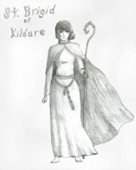 St. Brigid of Kildare by irish-brigid