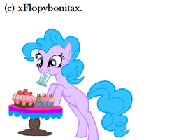 Pinkie Pie and cupcakes base. by xFlopyBonitax