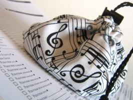 Musical Notes Dice Bag by mousch