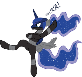Ninja Luna Attack! by InkRose98