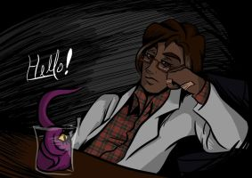 Carlos is done with Night Vale Science for Today by CMDORE