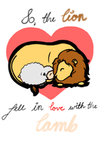 Lion fell in luv with the Lamb by MsMouse