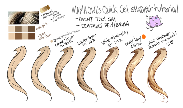 [[ Simple Cel Shading Tutorial ! ]] by Mama--Owl