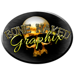Bone Naked Graphix Oval by DamnMulletDesign