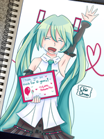 Miku's 10th by ChivDraws