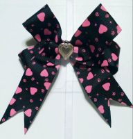 Black Ribbon with Heart Clip by wolf-girl87