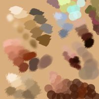 My digital palette by Darkdesyre