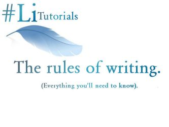 The Rules of Writing. by LiterazziHQ