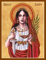 St. Lucy icon by Theophilia