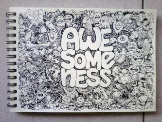 AWESOMENESS Doodles by kerbyrosanes