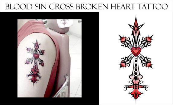 Blood Sin Cross Heart Broken by amadis33