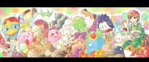 kirby and friends by rike-e