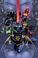 X-men COLORED by werder