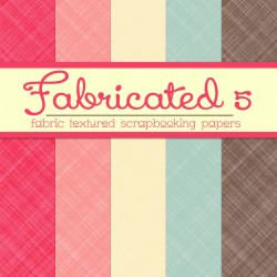 Free Fabricated 5: Fabric Textured Papers by TeacherYanie