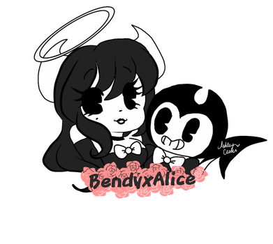 Bendy x Alice Pagedoll F2U by cutelittlepikakitty