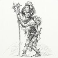 Hobbit Tales: Goblin With Huge Head by Merlkir