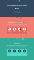Loot #7 Single Page Website Template FREE PSD by graphicloots