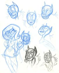 SBFF Batgirl face studies by fyre-flye