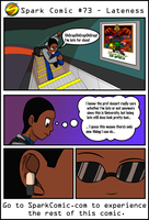Spark Comic #73 - Lateness by SuperSparkplug