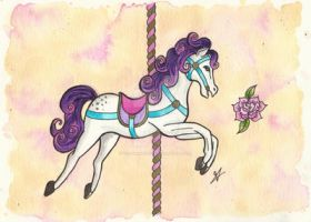 Carousel Horse by VictoriaThorpe