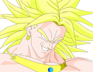 Broly Grinning by Yholl
