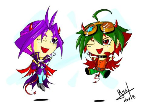 The Chibi Devils Cabbage and Tomato by Yami-No-Spirit-luver