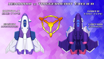 Xenoraid x Exelica -Buran-X EXE and Tanto CRU by SturmvogelPrime