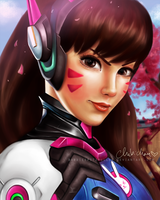 D.va Overwatch digital drawing /chibichan/ by BarbieSpitzmuller