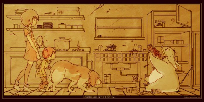 Something's in the Kitchen... by RYE-BREAD