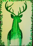 The deer of the forest by Eif-ka