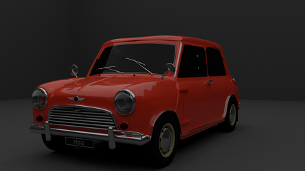 Austin Mini Cooper - Front by TallPaul3D