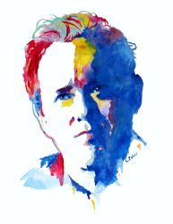 Raphael Sbarge watercolor by LMColver