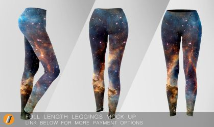 Full length Leggings Mock Up by TheApparelGuy