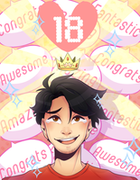 Markiplier 18 Million Congratulations by DarkMagic-Sweetheart