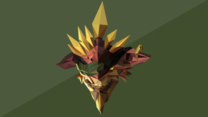 Bristleback Dota 2 Low Poly Art by giftmones