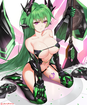Chaos Green Heart by sendrawz