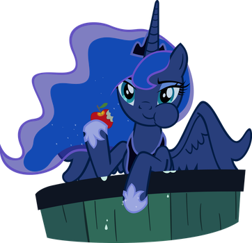 Luna Eating an Apple by supermatt314