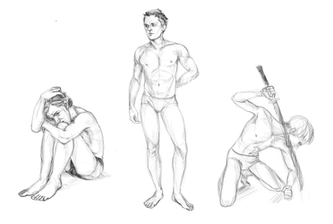 Male Pose Studies by PancrythePancreas5
