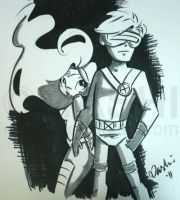 Jean and Cyclops by mashi