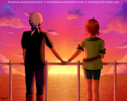 Harvest Moon: Luke x Akari (Secret Santa 2015) by oOLuccianaOo