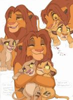 Simba and his babehs by Credens-Vita