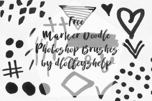 Free Marker Doodle Photoshop Brushes by toxiclolley88