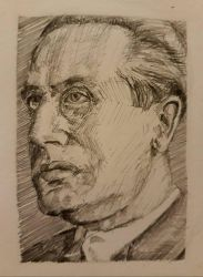Julius Evola Sketch by axeldeath