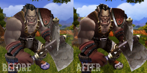 Shaggrath Comparison Before and After