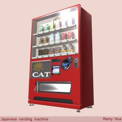 Japanese vending machine by SureyD