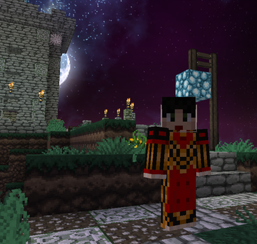 Minecraft Skin: Alice Madness Returns Red Queen by broodlings