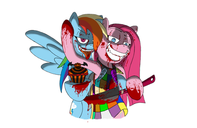 Rainbow Factory and Cupcakes by UltimatePwnzer